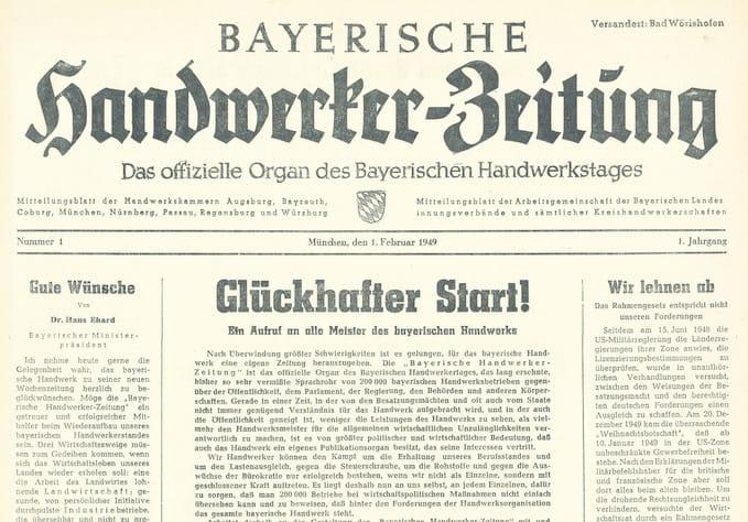 Titelseiten: Zeitreise durch 70 Jahre Deutsche Handwerks Zeitung