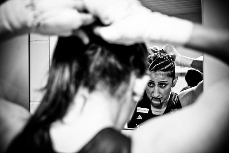 Profi-Boxerin Rola El-Halabi