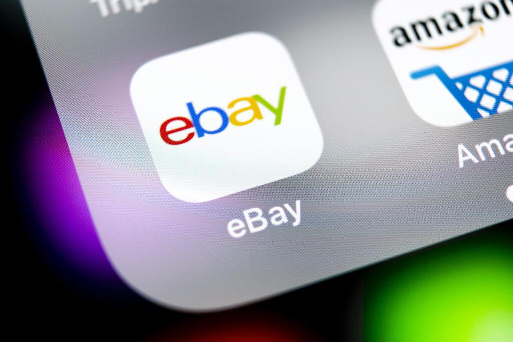 Ebay-App auf Smartphone.