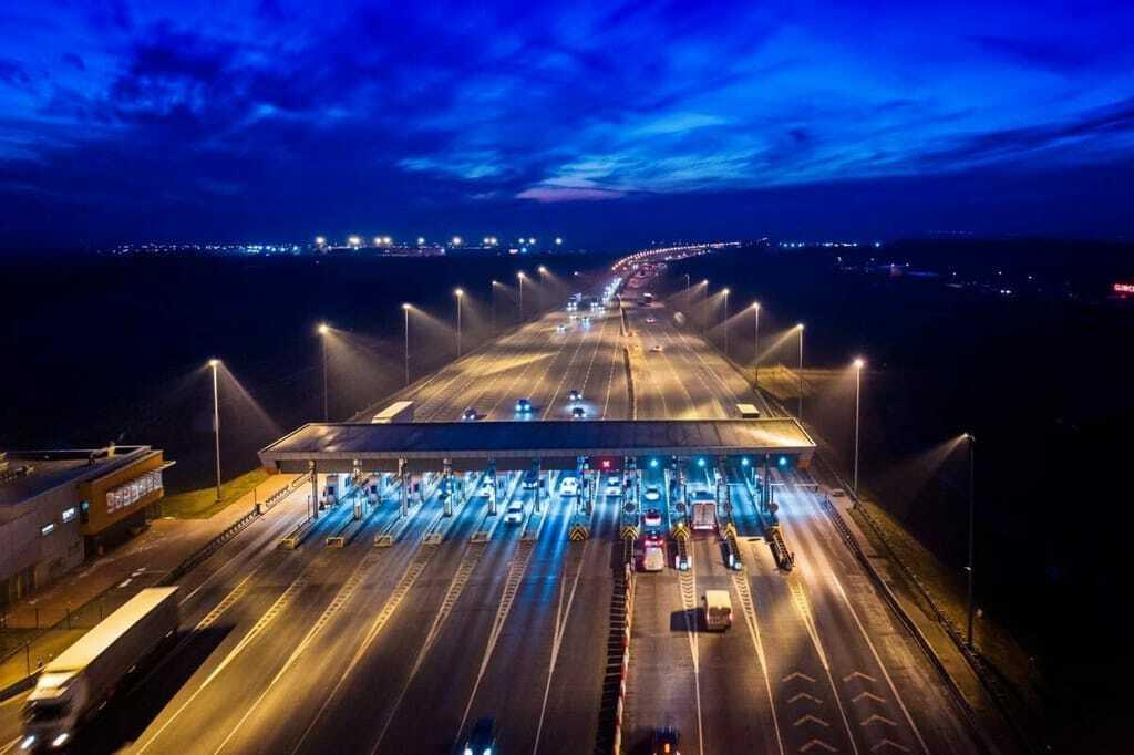 Autobahn-Mautstelle
