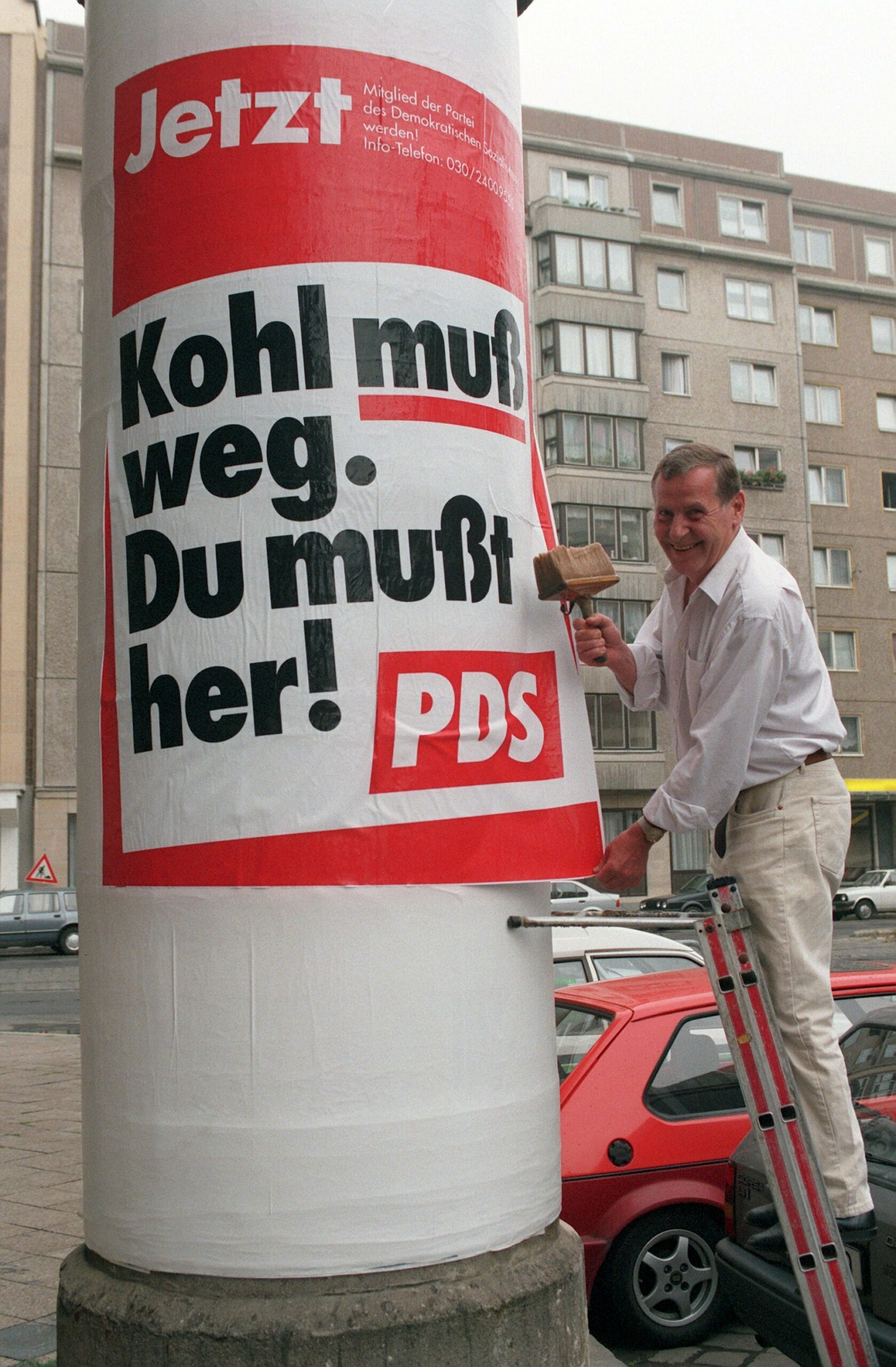 PDS Plakat in Berlin 1997