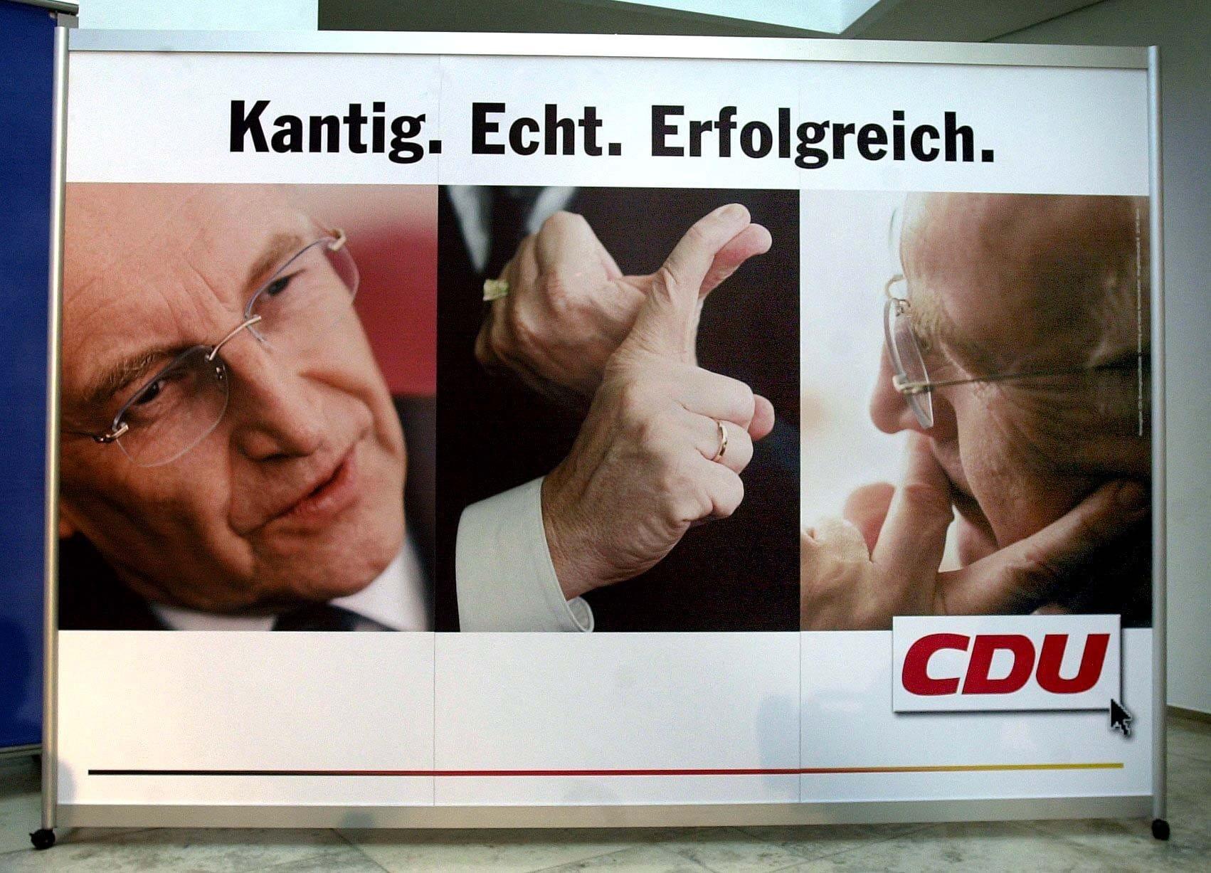 Wahlplakat von Edmund Stoiber