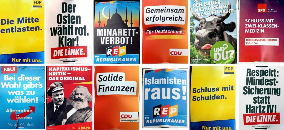 Wahlplakate im Wandel der Zeit