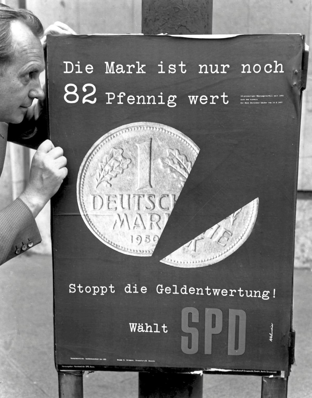 SPD prangert auf Wahlplakat die Inflation an