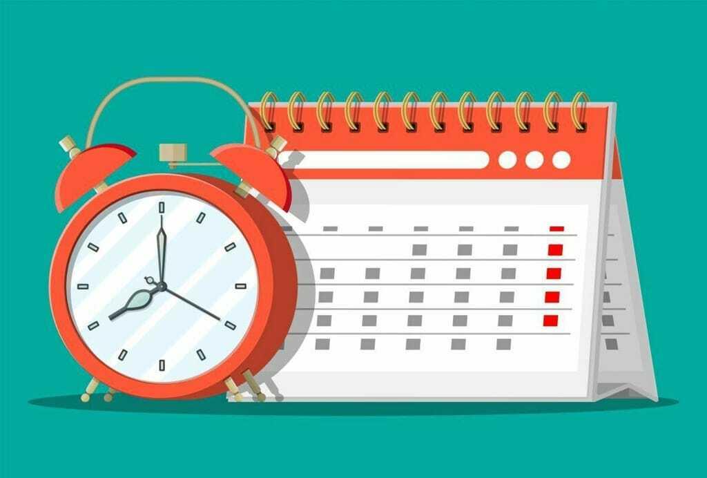 Wecker und Tischkalender