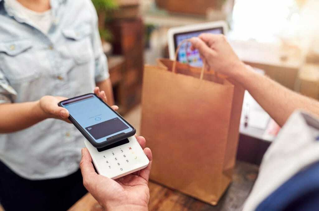 Bezahlungsvorgang per Smartphone