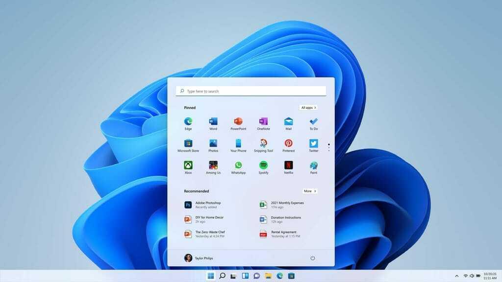 Windows 11 Desktop-Ansicht