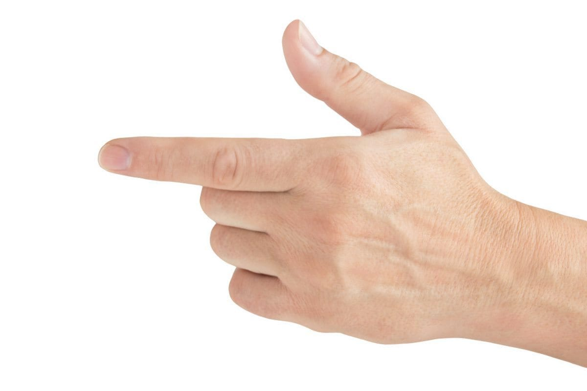 Aufgepasst, Zeigefinger