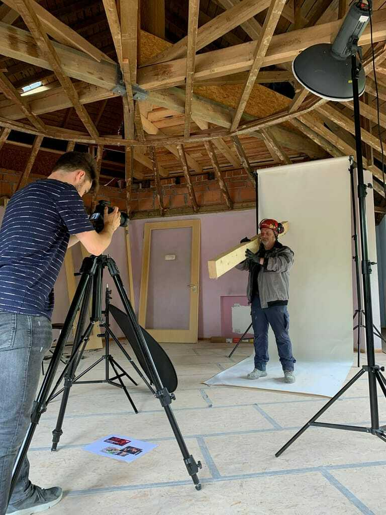 Foto-Shooting zu Helden am Bau