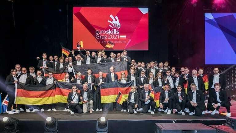 Deutsches Team bei den Euroskills 2021