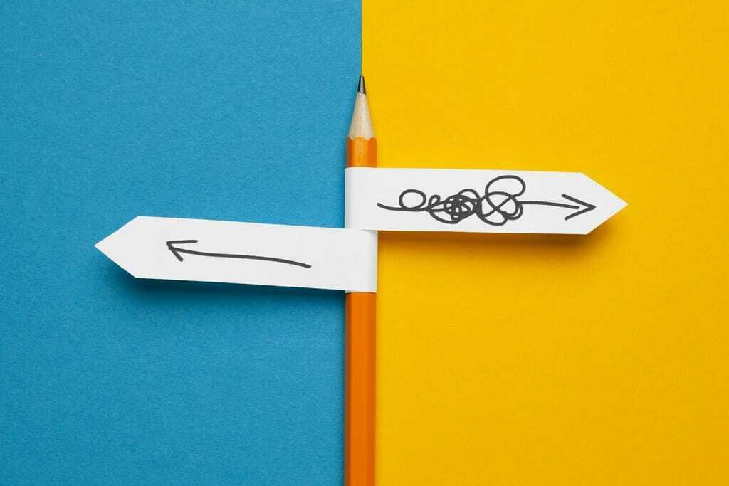 Bleistift, Pfeile links und rechts.s