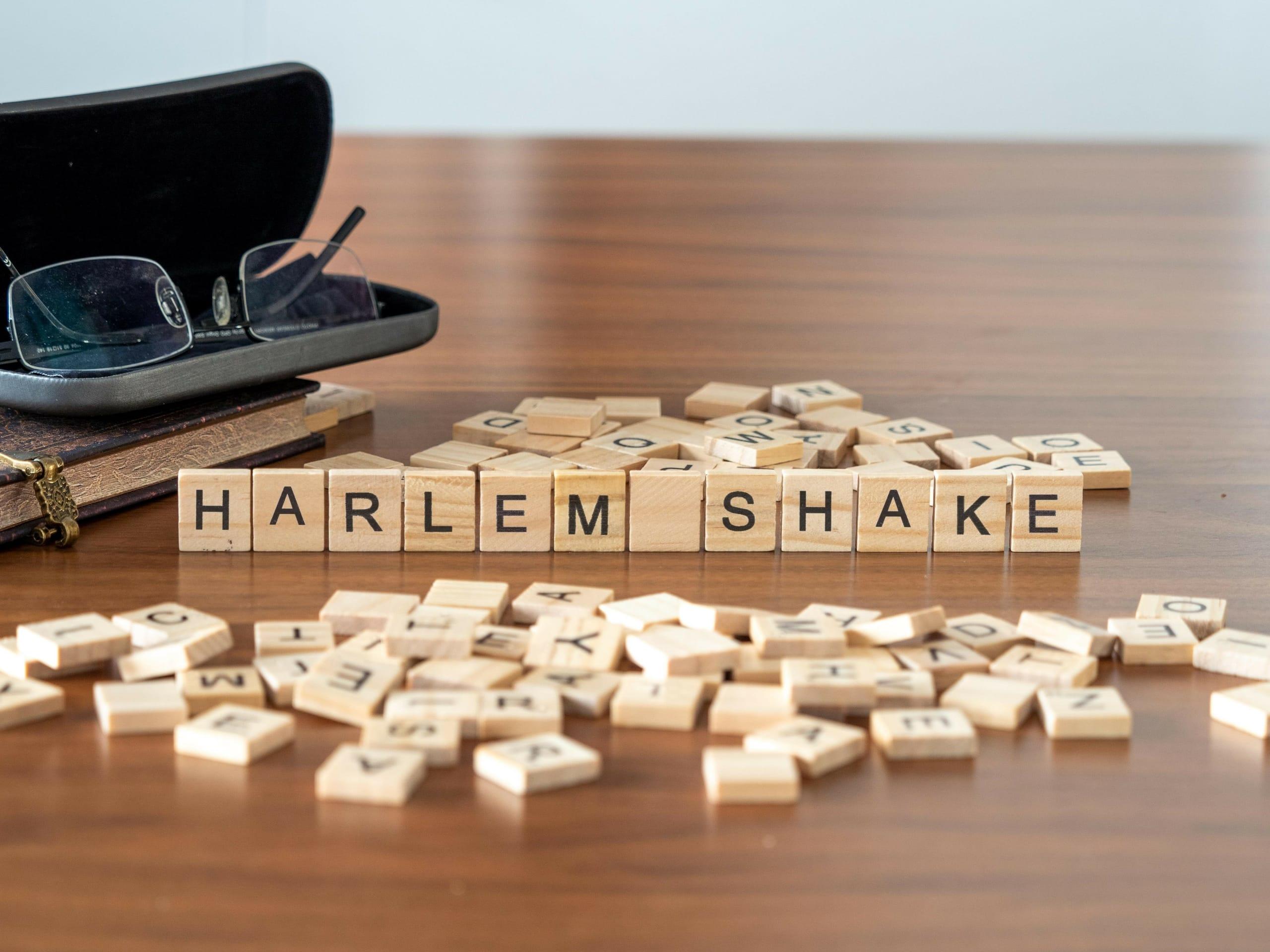 harlem shake in Scrabble-Buchstaben