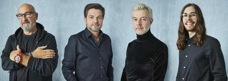 Roberto Laraia, Art Director Antonio Weinitschke, stellvertretender Art Director Steven Meth und Ozan Türk.